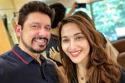 Madhuri Dixit-Nene Experiments With Husband's Hairstyle