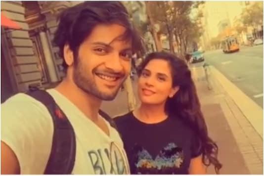 Ali Fazal and Richa Chadha click a selfie during vacay