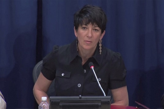 Ghislaine Maxwell, longtime associate of accused sex trafficker Jeffrey Epstein, speaks at a news conference on oceans and sustainable development at the United Nations in New York, US June 25, 2013 in this screengrab taken from United Nations TV file footage. (UNTV/Handout via REUTERS)