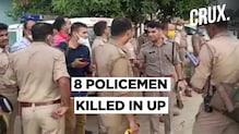 8 Kanpur Cops Killed By Gangster Vikas Dubey's Associates In An Ambush