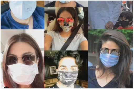 Kareena Kapoor shared this collage of her family wearing masks.