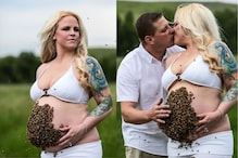 Viral Maternity Photoshoot of Texas Woman with 10,000 Live Bees on Her Belly Leaves Internet Confused