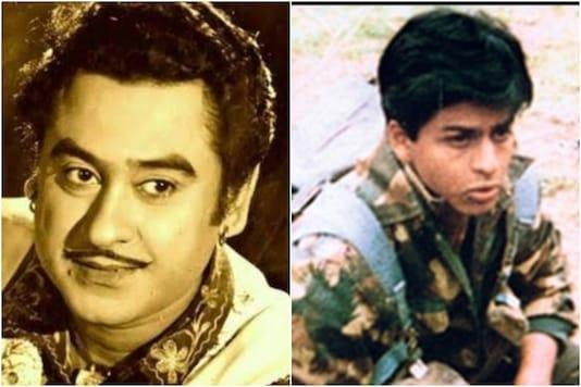 Kishore Kumar (L), Shah Rukh Khan in 'Fauji' (R)