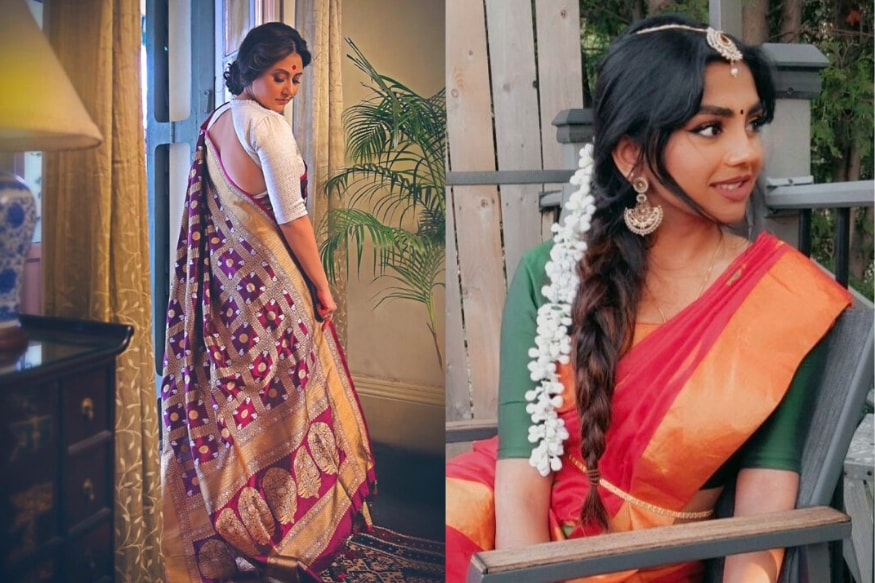 Desi Women are Embracing the Whole 9 Yards With Internet's #SareeTwitter Challenge