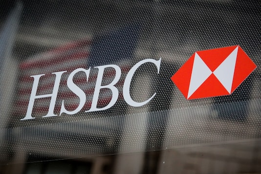 HSBC logo is seen on a branch bank in the financial district in New York, U.S., August 7, 2019. REUTERS/Brendan McDermid/Files