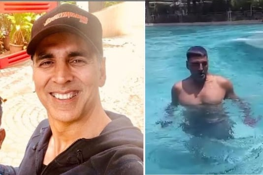 This Video of Akshay Kumar Swimming with Weights in His Hands is Fitness Goals
