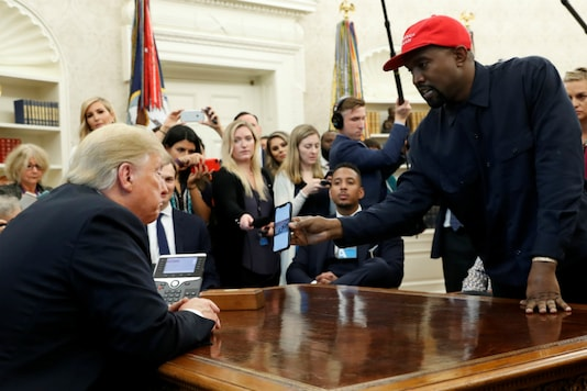 Donald Trump with Kanye West. (Reuters File)