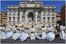 Women in Rome Don Wedding Dresses to Protest Against Coronavirus Restrictions Against Marriages