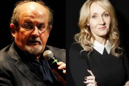 File photo of Salman Rushdie and JK Rowling.