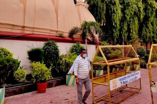 Gangster Vikas Dubey at Mahakal Temple in MP's Ujjain.