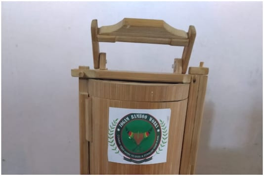 Eco-friendly bamboo tiffin box |  Image credit: Twitter