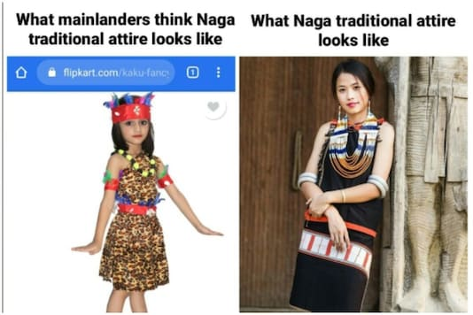 Many have been outraging against the Delhi-based store's racist depiction of Naga costumes | Image credit: Facebook