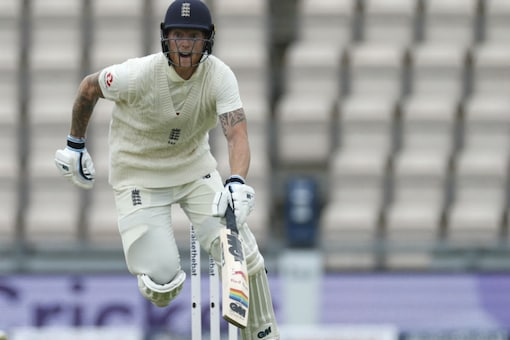 England's captain Ben Stokes reacts as he runs between the wickets (Image: AP)