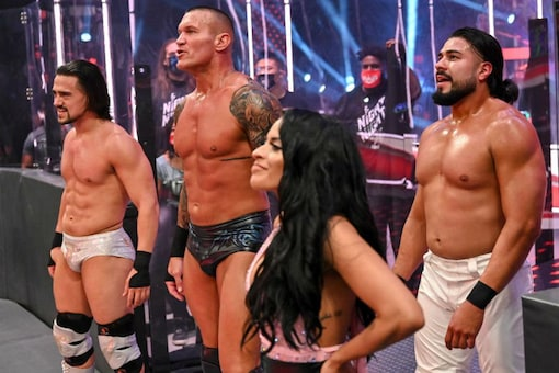 Randy Orton (2L) could be in line for a WWE championship shot. (Image: WWE)