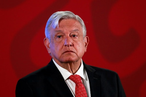Mexico's President Andres Manuel Lopez Obrador holds a news conference at the National Palace in Mexico City, Mexico, March 17, 2020. (REUTERS/Henry Romero/File Photo)