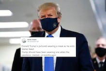 Everyone Had the Same Response to Donald Trump Finally Wearing a Face Mask in Pandemic