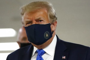 Donald Trump Dons Mask in Public for First Time During COVID-19 Pandemic