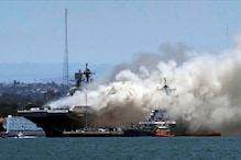 Fire Breaks Out on US Navy Warship Docked at San Diego Base, 21 People Injured