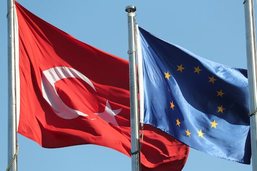 File photo of Turkish and EU flags. (Reuters)
