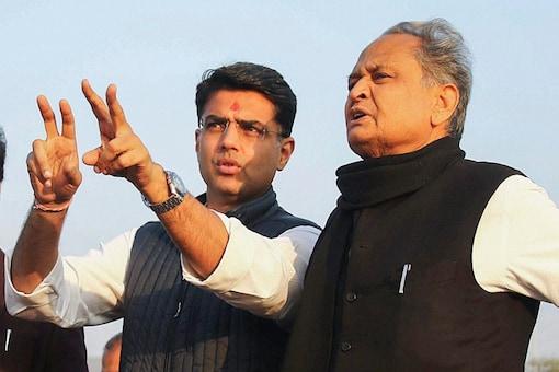 File photo of Rajasthan CM Ashok Gehlot with former deputy CM Sachin Pilot.