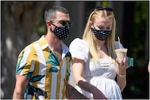 Mommy-to-be Sophie Turner Steps Out with Joe Jonas in Matching Breathing Masks, See Pics