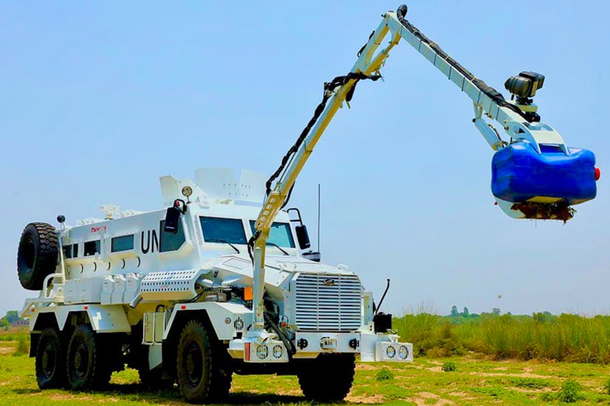 Mahindra's Mine Resistant Armoured Defence Truck is Now Part of UN Peacekeeping Missions