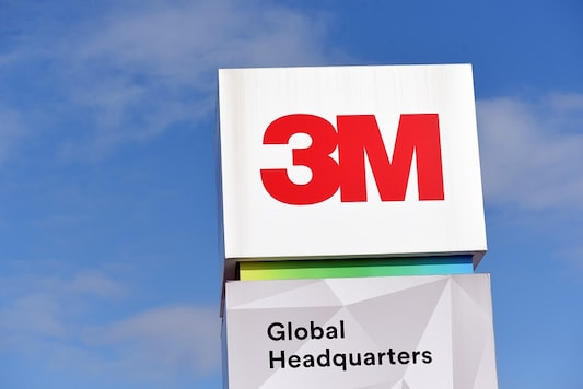 The 3M logo is seen at its global headquarters in Maplewood, Minnesota, U.S. on March 4, 2020. REUTERS/Nicholas Pfosi