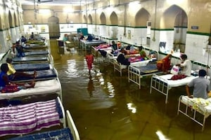 Flooding in Hyderabad After Heavy Rain, Historic Osmania Hospital Submerged