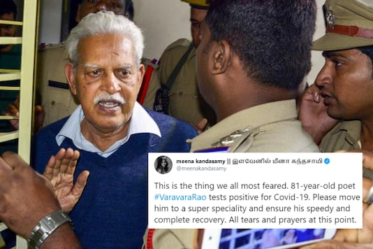 Telugu poet Varavara Rao has been in prison for 22 months in connection with the Elgar Parshid-Maoist links case | Image credit: PTI/Twitter