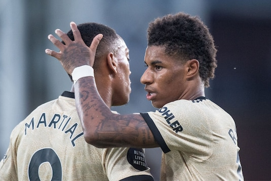 Marcus Rashford and Anthony Martial (Photo Credit: Twitter)