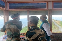 Defence Minister Rajnath Singh Visits Key Forward Post Along LoC in Jammu and Kashmir