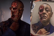 Giancarlo Esposito Shares a Stunning Fan Art of Gus Fring's Iconic Death Scene in Breaking Bad