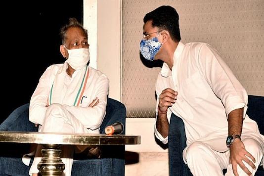 Rajasthan CM Ashok Gehlot and his former deputy Sachin Pilot on Monday. (File photo: ANI)
