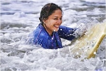 Madhuri Dixit Shares Throwback Pics Surfing in Water