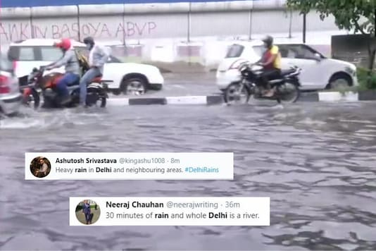 Twitter Makes a Splash With Photos and Videos of Delhi Rains as Heavy Downpour Lashes Capital