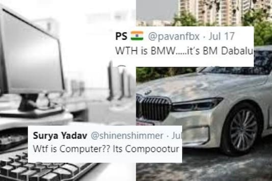 Indian version of English words went viral on Twitter.