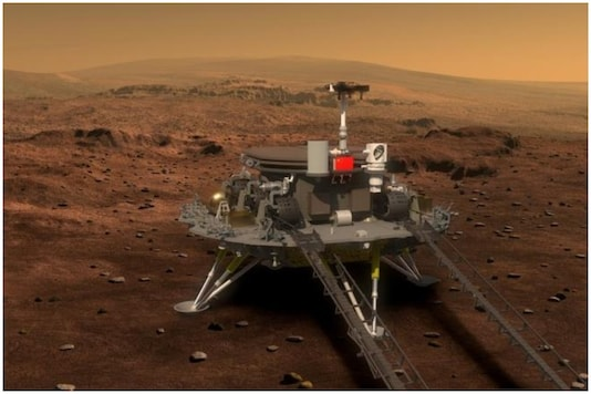 Concept portrayal of China's Mars rover and lander released on August 23, 2016 by lunar probe and space project center of Chinese State Administration of Science, Technology and Industry for National Defence. China Daily/via REUTERS