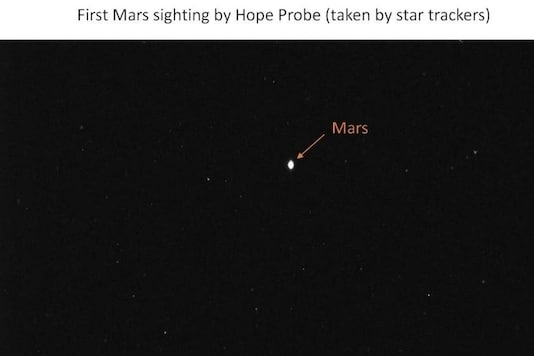 First image taken by the Hope Probe of Mars. Credits: Twitter