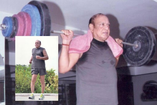 Shankersinh Vaghela  recently beat coronavirus and now seems to be in the pink of health   Image credit: Twitter