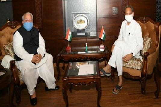 CM Ashok Gehlot with Governor Kalraj Mishra