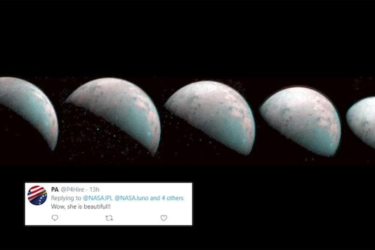 NASA Shares First-ever Image of Jupiter Moon's North Pole, Internet Dazzled by its Beauty