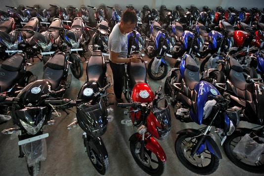 "Analysts say that motorcycle inventory for Bajaj is less than a month away and supplies are in a ""hand-to-mouth"" situation across the two-wheeler industry as a whole. (Representative image/Reuters)"