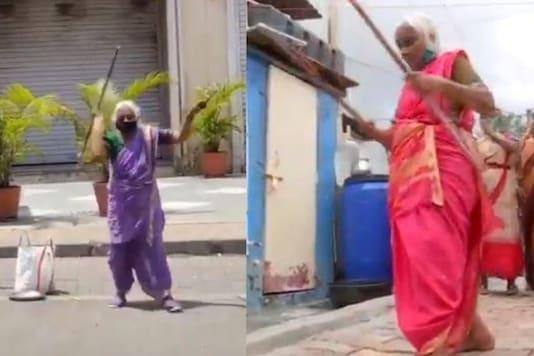 Video grab. (Image credit: Twitter/ ANI/ Aishwarya Kale)