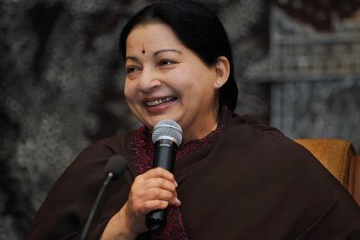 File photo of late Tamil Nadu CM J Jayalalitha.