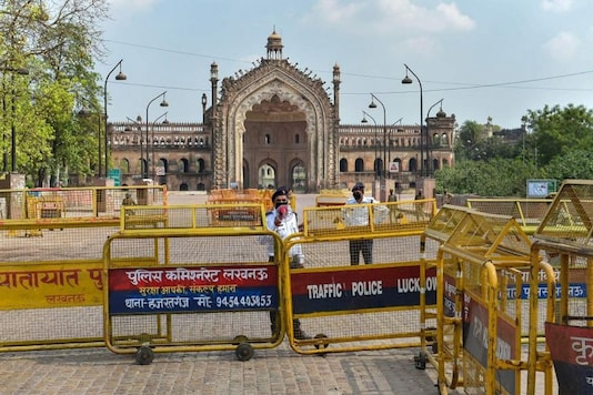For representation: Rumi Darwaza wears a deserted look during a nationwide lockdown in Lucknow. (PTI)
