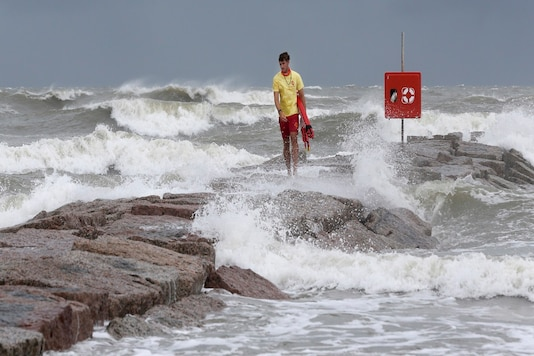Officials in South Texas say they're prepared to handle any challenges from Tropical Storm Hanna. The storm is headed their way and expected to make landfall this weekend. (Jennifer Reynolds/The Galveston County Daily News via AP)