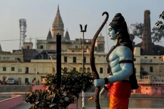 A statue of Lord Ram is seen after Supreme Court's verdict on the disputed religious site in Ayodhya. (Image: Reuters)