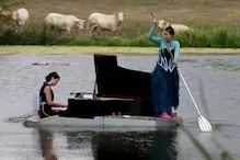 WATCH: Artists Put up a Show on French Lake With Floating Piano to Ride Out Difficult Summer