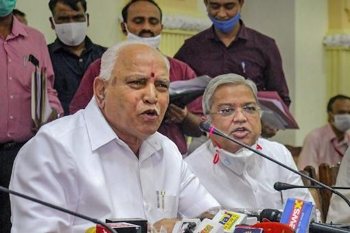 File photo of Karnataka Chief Minister BS Yediyurappa. (PTI Photo).