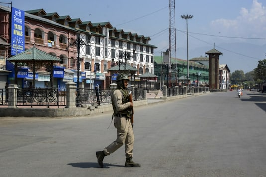 Image for Representation: Security forces patrolling in Srinagar, Jammu and Kashmir.
